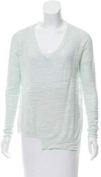 White + Warren Asymmetrical Textured Top