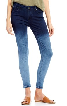 Celebrity Pink Ombre Ankle Skinny Jeans