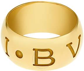 Bvlgari Monologo 18k Yellow Gold Band Ring
