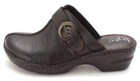 b.ø.c. Womens Dorothea Leather Closed Toe Clogs.