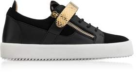 Giuseppe Zanotti Black Leather and Suede Archer Men's Sneakers