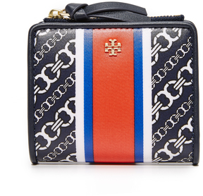 Tory Burch Gemini Link Mini Wallet - GREEN - STYLE