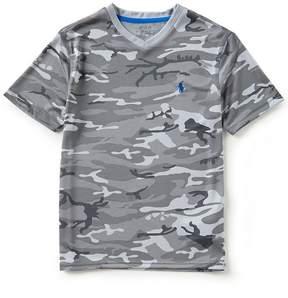 Ralph Lauren Big Boys 8-20 V-Neck Short-Sleeve Camouflage-Printed Tee