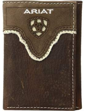 Ariat Shield Cut Out Overlay Trifold Wallet Wallet
