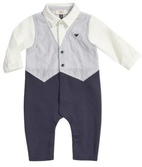 Armani Junior Infant Boy's Vest Romper