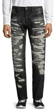 Cult of Individuality Straight-Fit Cotton Jeans