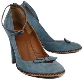 Marc Jacobs Blue Suede Heels