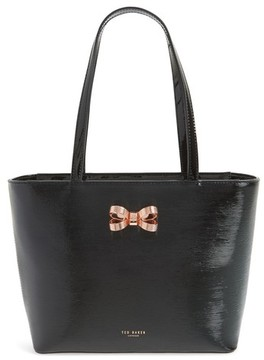 Ted Baker Small Lamica Patent Leather Shopper - Black
