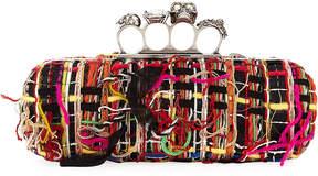 Alexander McQueen Woven Yarn Knuckle Box Clutch Bag