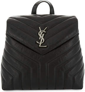 Saint Laurent LouLou small leather backpack - BLACK - STYLE
