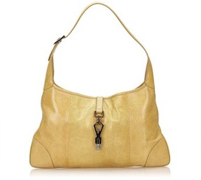 Gucci Pre-owned: Lizard Leather Jackie. - BROWN X BEIGE - STYLE