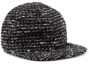 Eugenia Kim Darien Metallic Cotton-blend Tweed Baseball Cap - Black