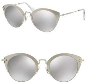 Miu Miu Sartoria 52mm Metal Typewriter Sunglasses