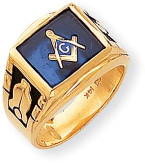 Ice 14k Men's Masonic Ring