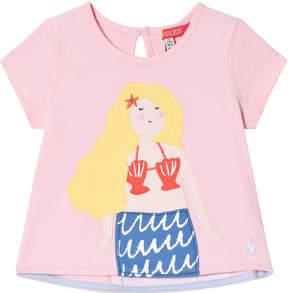 Joules Pink Mermaid Applique T-Shirt