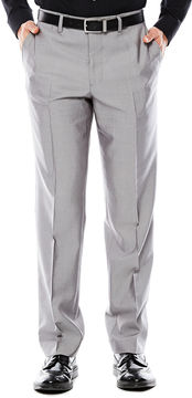 Jf J.Ferrar Men's JF Gray Shimmer Shark Flat-Front Slim Fit Suit Pants