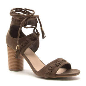 Qupid Cylinder 2 Lace Up Sandal