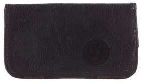 Carlos Falchi Leather Checkbook Cover