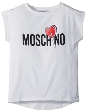 Moschino Kids Short Sleeve Logo Lollipop T-Shirt Girl's T Shirt