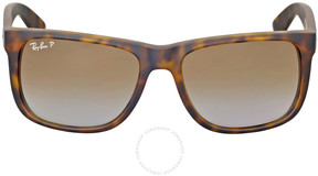 Ray-Ban Justin Classic Polarized Tortoise Sunglasses RB4165 865/T5