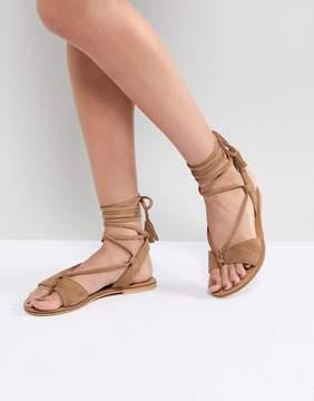 Asos FLORRIE Suede Tie Leg Sandals