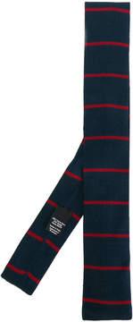 HUGO BOSS striped square tip tie