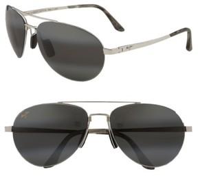 Maui Jim Men's 'Pilot - Polarizedplus2' 63Mm Sunglasses - Gold