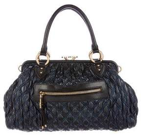 Marc Jacobs Leather Stam Bag - BLUE - STYLE