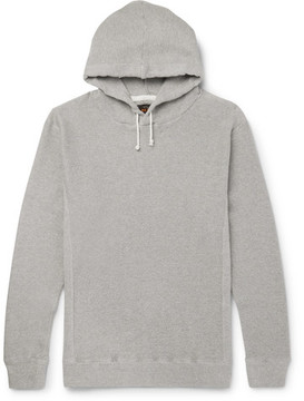 Beams Waffle-Knit Cotton-Jersey Hoodie