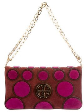 Tory Burch Happy Suede Clutch - PURPLE - STYLE