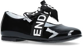 Fendi Logo Bow Mary Janes