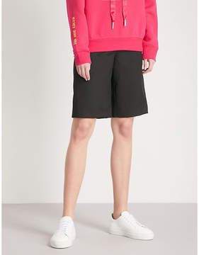 Mo&Co. Wide-leg wool-blend shorts