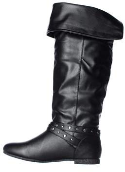 DOLCE by Mojo Moxy Womens Duffy Almond Toe Knee High Fashion Boots.