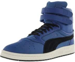 Puma Men's Sky Ii Hi Color Blocked Leather Lapis Blue / Black Ankle-High Fashion Sneaker - 10.5M