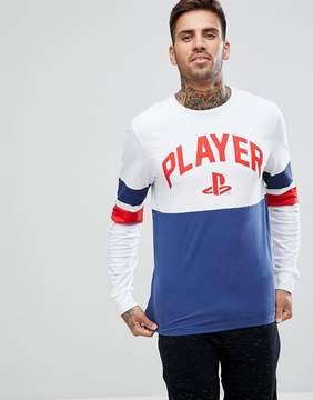 New Look T-Shirt With Playstation Print In Navy
