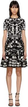 Alexander McQueen Black and White Botanical Spine Dress