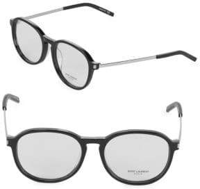 Saint Laurent Round 53MM Eyeglasses