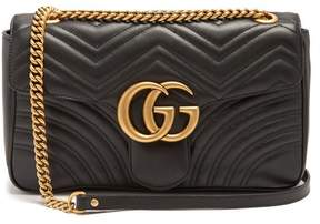 Gucci Gg Marmont Medium Quilted Leather Shoulder Bag - Womens - Black