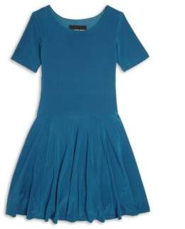 Un Deux Trois Girl's Short Sleeve Fit-&-Flare Dress