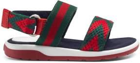 Gucci Toddler Chevron leather sandal