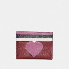 Coach Card Case With Heart Motif