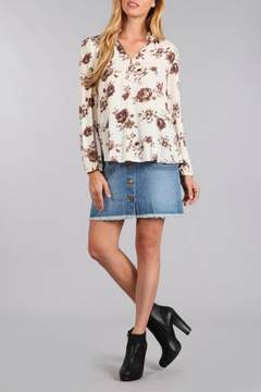 Blu Pepper Floral V Neck Blouse