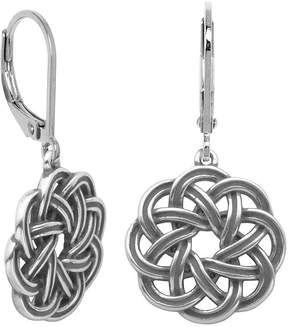 Celtic FINE JEWELRY Sterling Silver Wreath Drop Earrings
