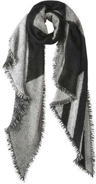 Joe Fresh Women's Stripe Asymmetrical Scarf, Grey Mix (Size O/S)