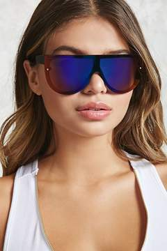 FOREVER 21 Mirrored Shield Sunglasses