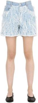 Each X Other Frayed Cotton Denim Shorts