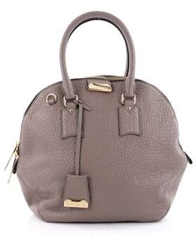 Burberry Pre-owned: Orchard Bag Heritage Grained Leather Medium. - GRAY - STYLE