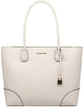Michael Kors White Mercer Gallery Hammered Leather Tote - WHITE - STYLE