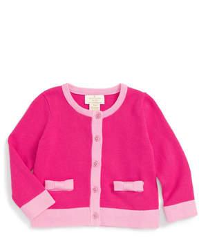 Kate Spade Colorblock Bow Cardigan (Baby Girls)