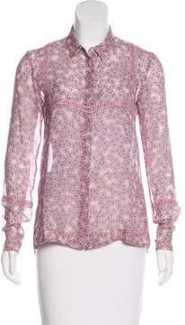 Giamba Silk Button-Up Top